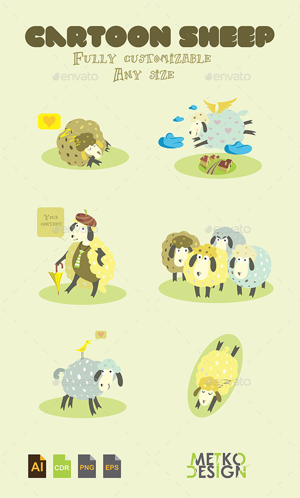 Cartoon Sheep - Animals Characters