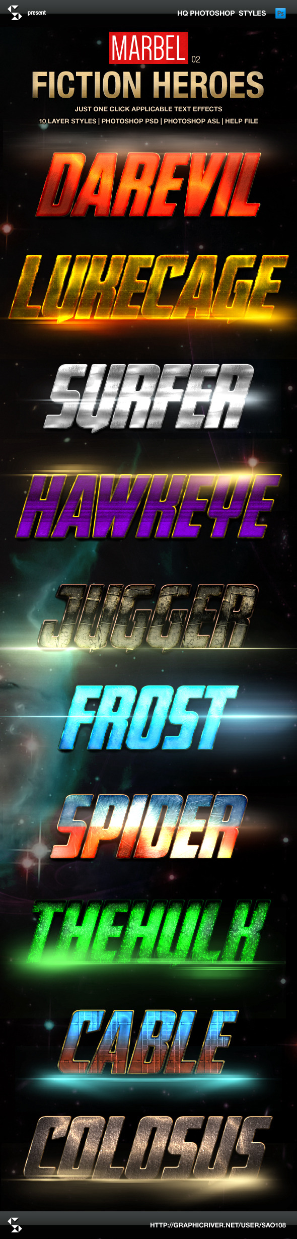 Blockbuster Heroes Style Text Effects 02 - Text Effects Styles