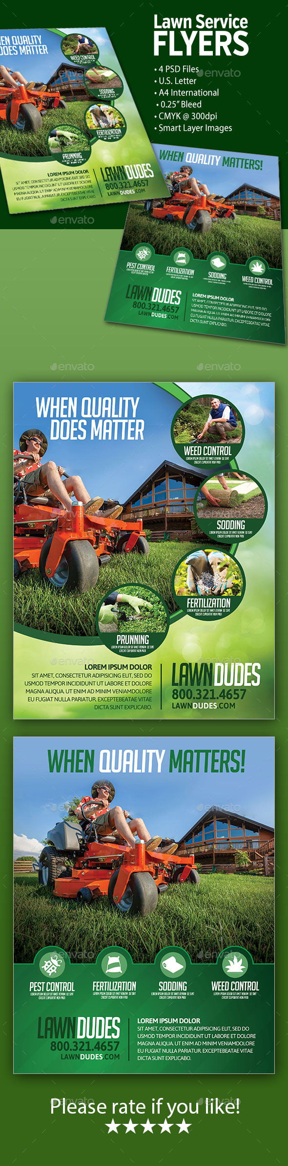 Lawn Service Flyers - Commerce Flyers