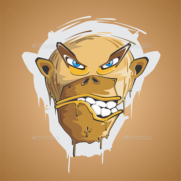 Angry Monkey - Animals Characters