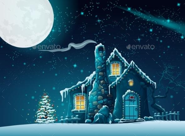 Illustration of Christmas Night - Christmas Seasons/Holidays