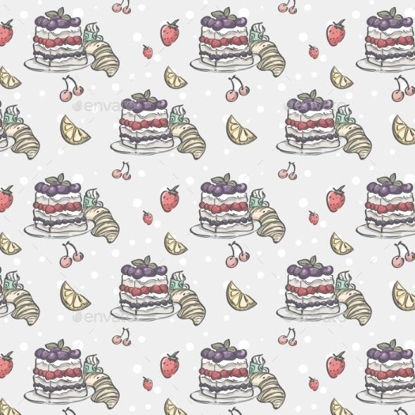 Cake and Berries Pattern - Birthdays Seasons/Holidays