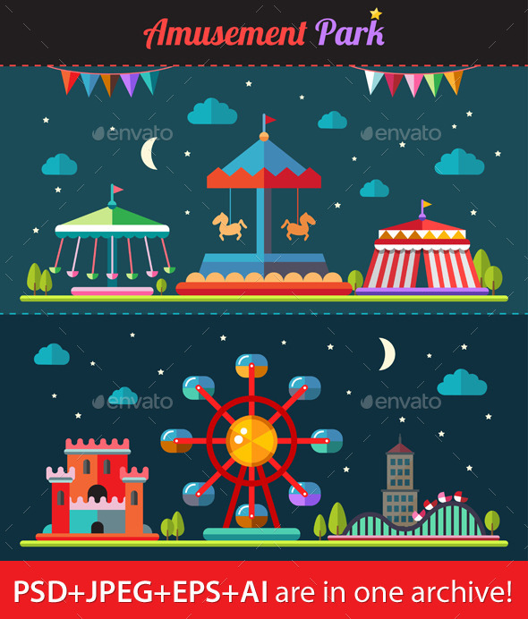Amusement Park - Miscellaneous Vectors