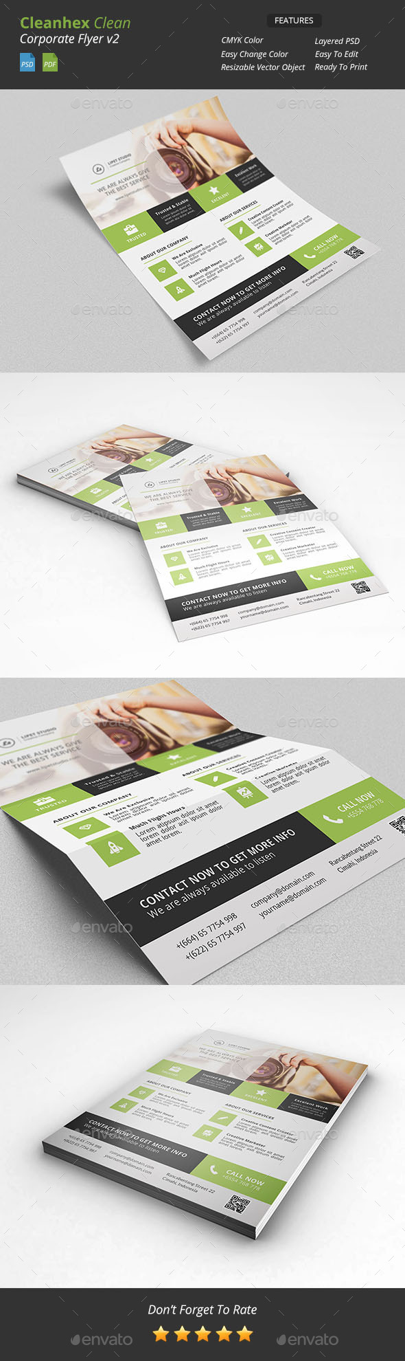 Cleanhex - Clean Corporate Flyer v2 - Corporate Flyers