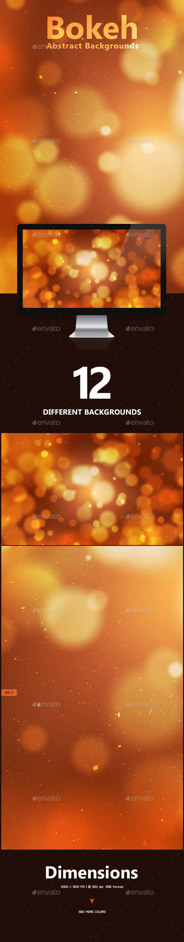 Bokeh Abstract Backgrounds - Miscellaneous Backgrounds
