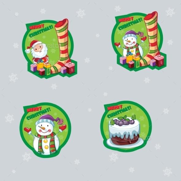 Set of Christmas Labels - Christmas Seasons/Holidays