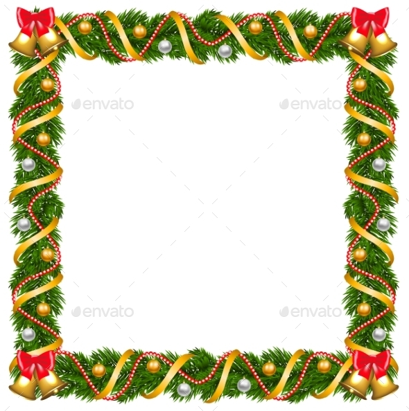Christmas Garland Frame - Christmas Seasons/Holidays
