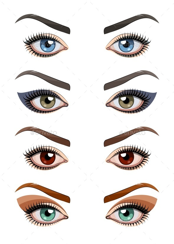 Womans Eyes with Make-Up - Miscellaneous Conceptual