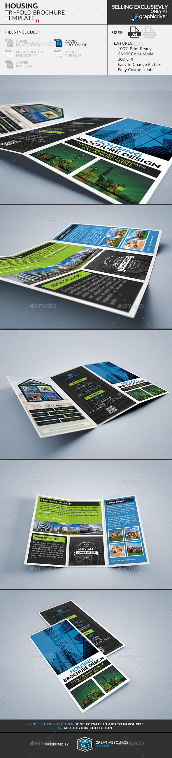 Trifold Brochure 31 : Housing & Real State - Corporate Brochures