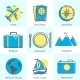 Flat Icons Set of Tourism Concepts - GraphicRiver Item for Sale