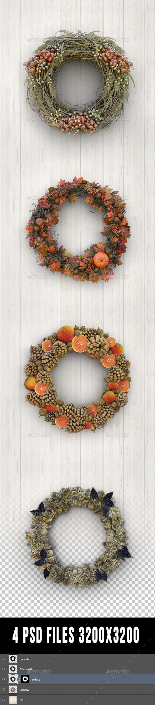 Wreaths - Objects 3D Renders