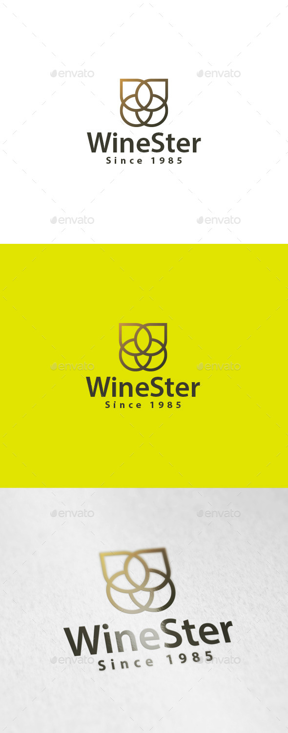 WineSter Logo - Abstract Logo Templates