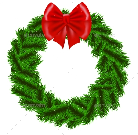 Christmas Fir Tree Wreath - Christmas Seasons/Holidays