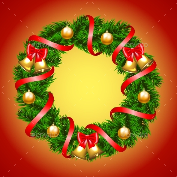 Christmas Fir-Tree Wreath - Christmas Seasons/Holidays