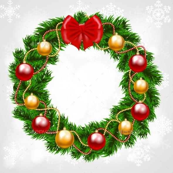 Christmas Fir-Tree Wreath - Christmas Seasons/Holidays
