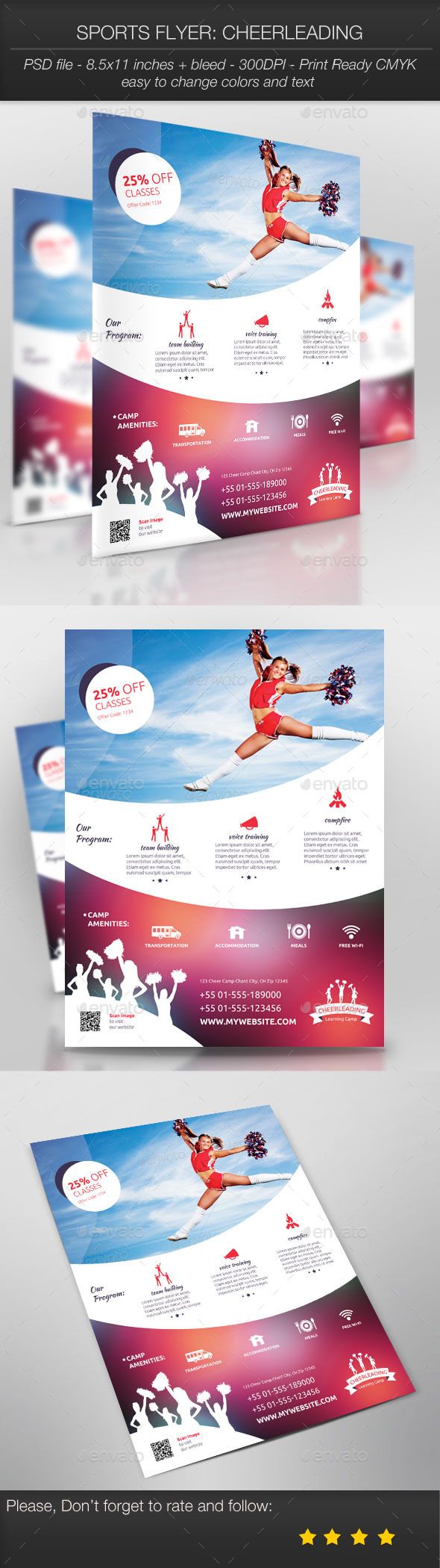 Sports Flyer: Cheerleading - Sports Events