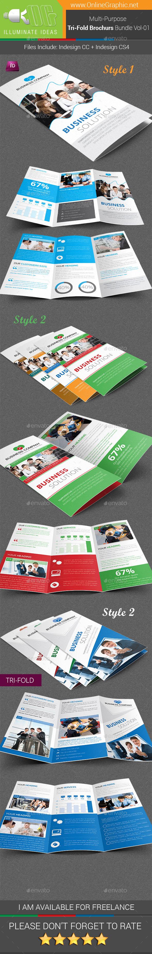 Multipurpose Tri-Fold Brochures Bundle Vol-01 - Corporate Brochures