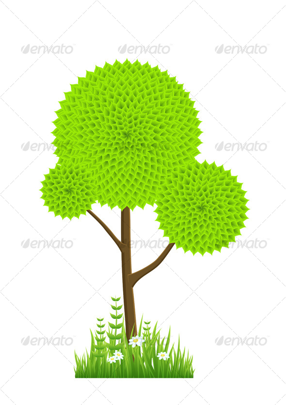 Abstract green tree - Backgrounds Decorative