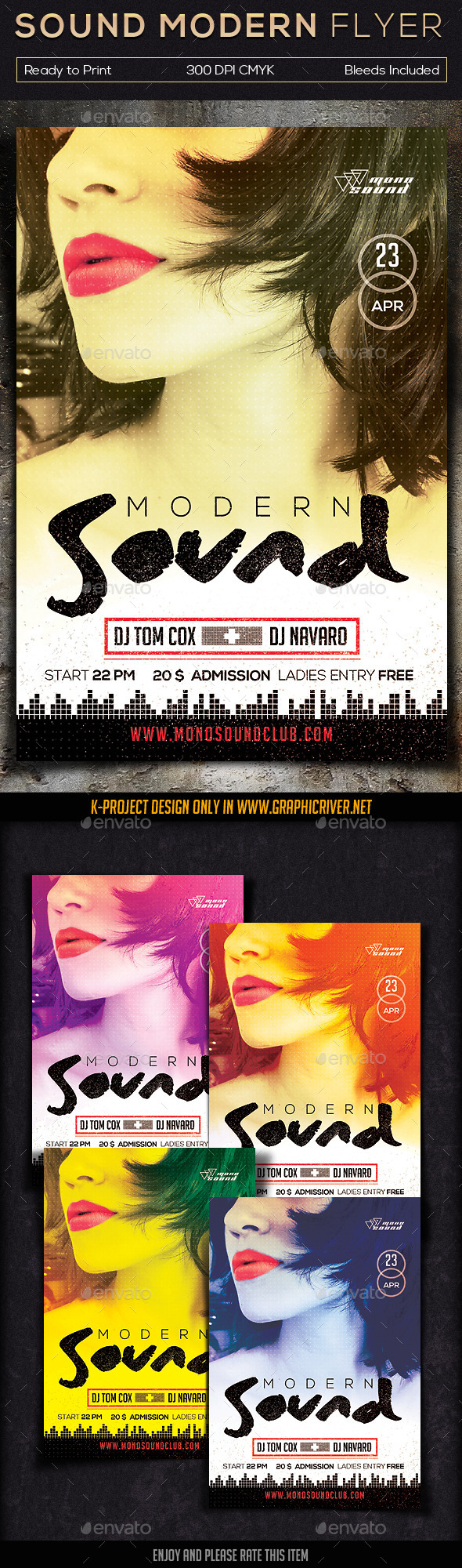 Sound Modern Flyer V2 - Clubs & Parties Events