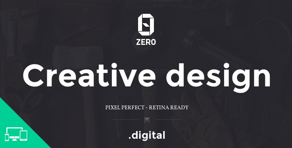 ZER0 - HTML5 Digital Creative Agency Template - Portfolio Creative
