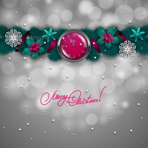 Garland of Fir Branches Background - Christmas Seasons/Holidays