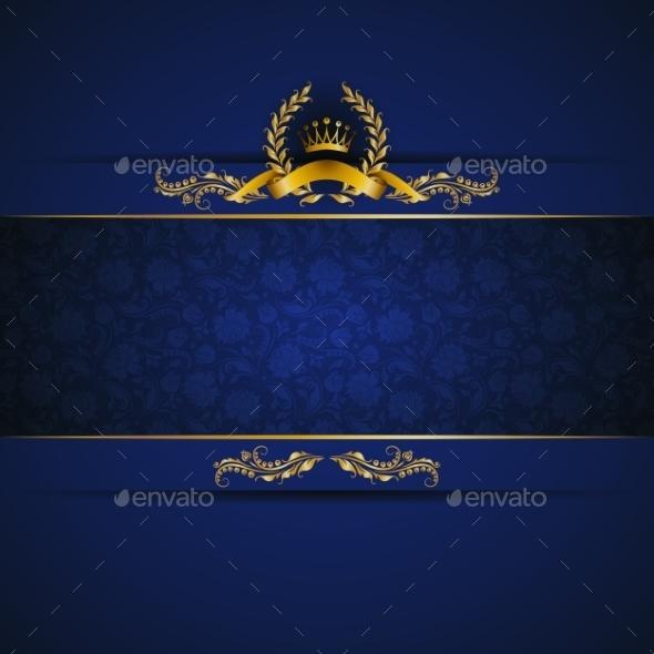 Elegant Golden Frame Banner - Backgrounds Decorative
