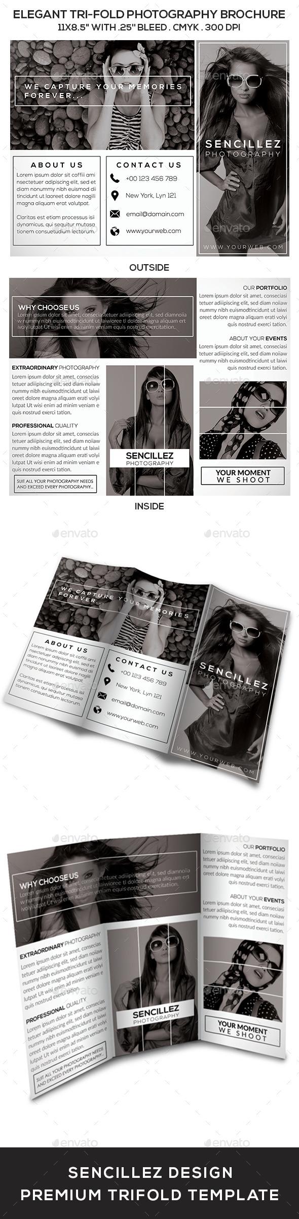 Elegant Tri-Fold Photography Brochure Vol. 2 - Corporate Brochures
