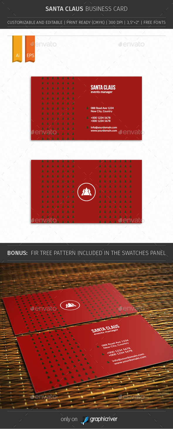 Santa Claus Business Card 01 - Creative Business Cards