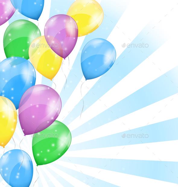 Balloon Background - Backgrounds Decorative