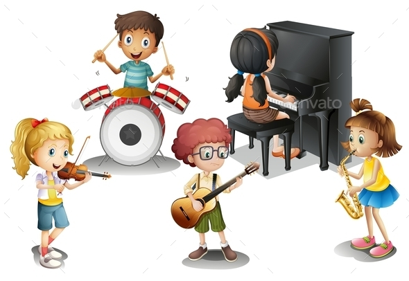 Group of Talented Kids - People Characters