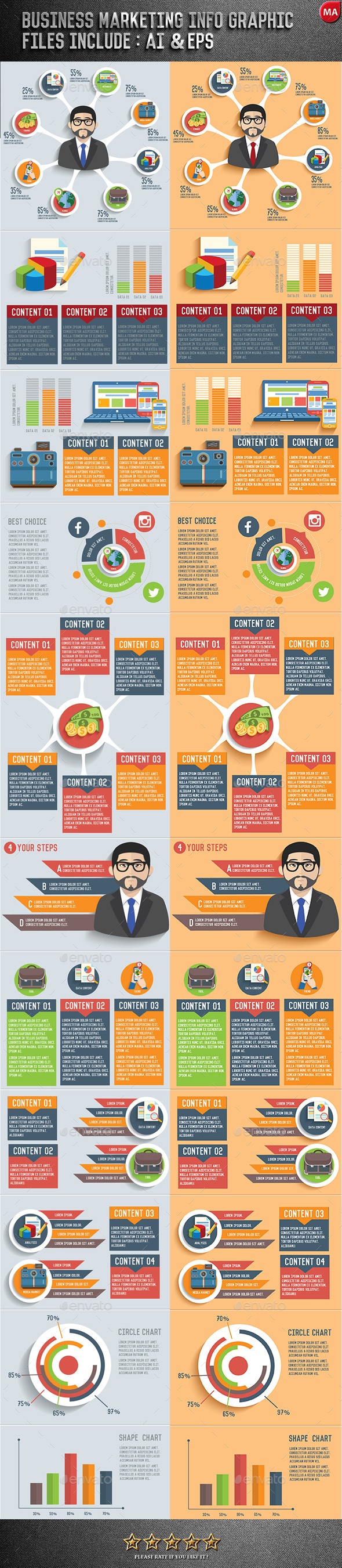 Business Graphic Design - Infographics