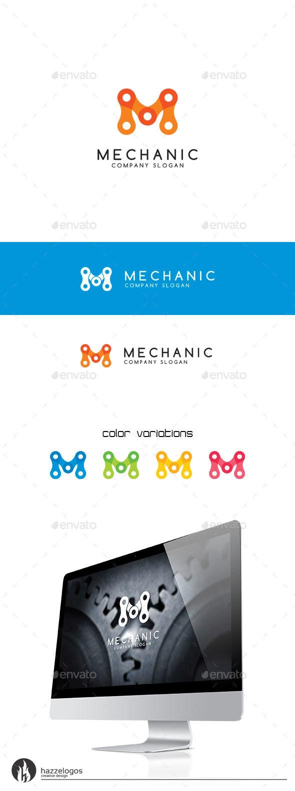 Mechanic - Letter M Logo - Letters Logo Templates
