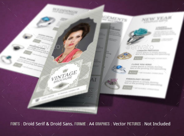 Jewelry Brochure Design By Blogankids  Graphicriver