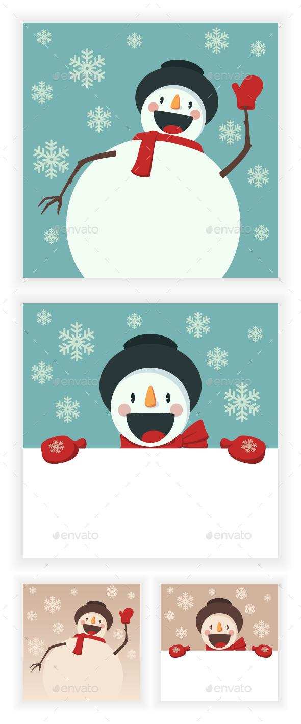 Happy Snowman - Christmas Seasons/Holidays