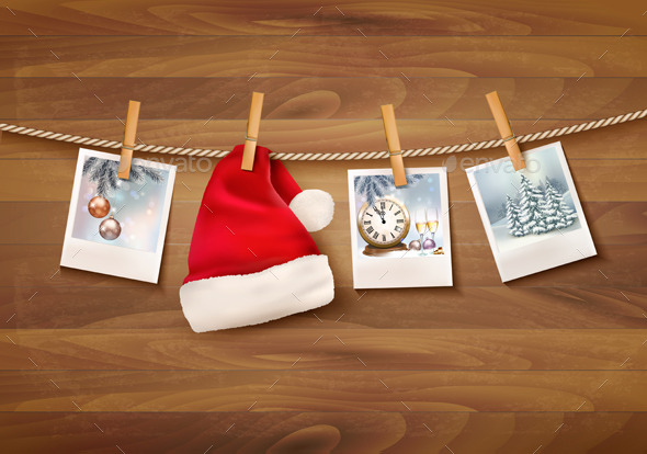 Holiday Background with Christmas Photos - Christmas Seasons/Holidays