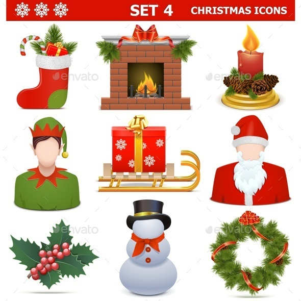 Christmas Icons Set 4 - Christmas Seasons/Holidays
