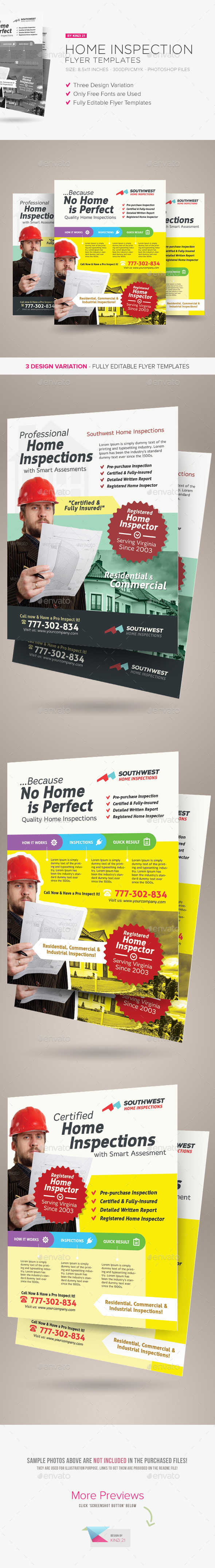 Home Inspection Flyer Templates - Corporate Flyers