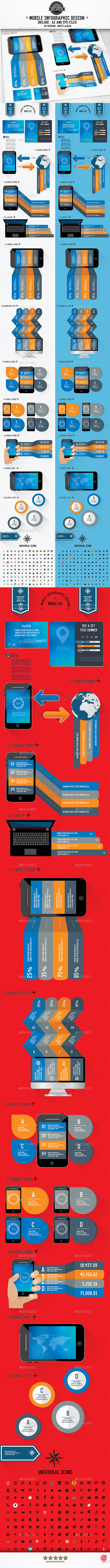 Mobile Phone Infographics Design[Update] - Infographics
