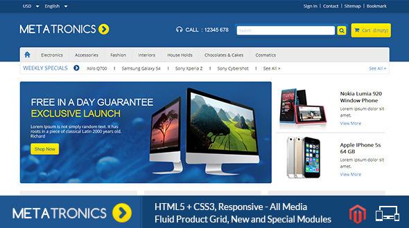 Meta Tronics - Magento Responsive Theme - Magento eCommerce