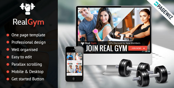 RealGym - Pagewiz Health Fitness Landing Page - Pagewiz Marketing