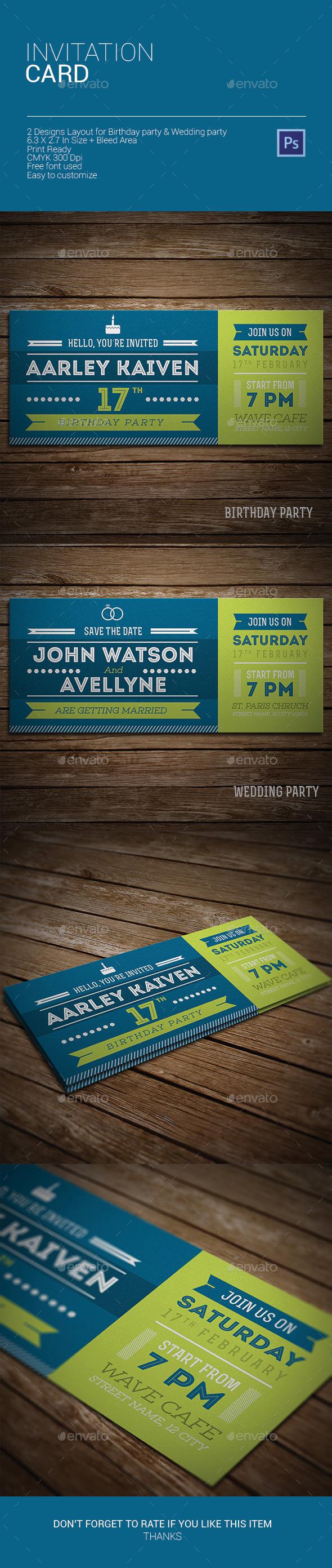 Invitation Card - Invitations Cards & Invites
