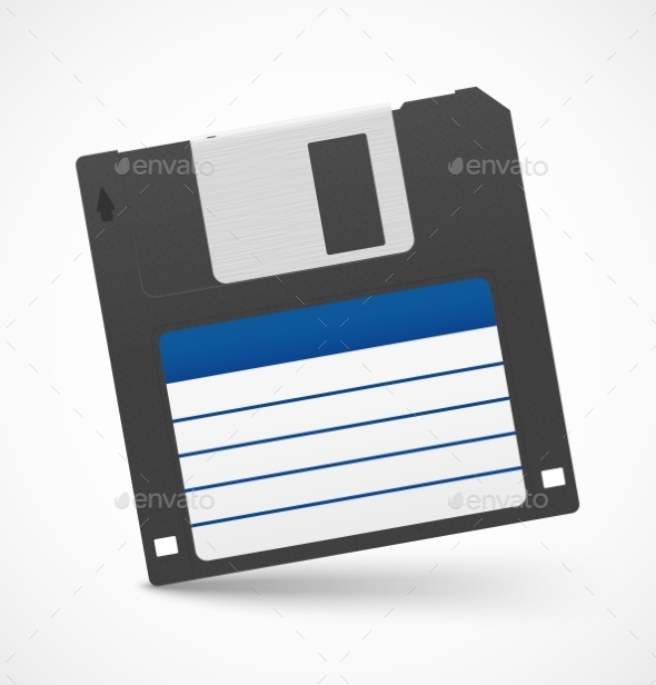 Black Floppy Diskette  - Computers Technology