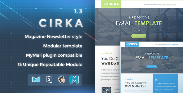 Cirka – Responsive Email Template