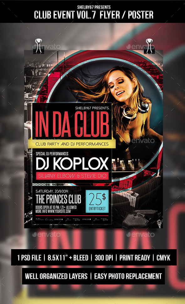 Club Event Flyer / Poster Vol.7 - Events Flyers