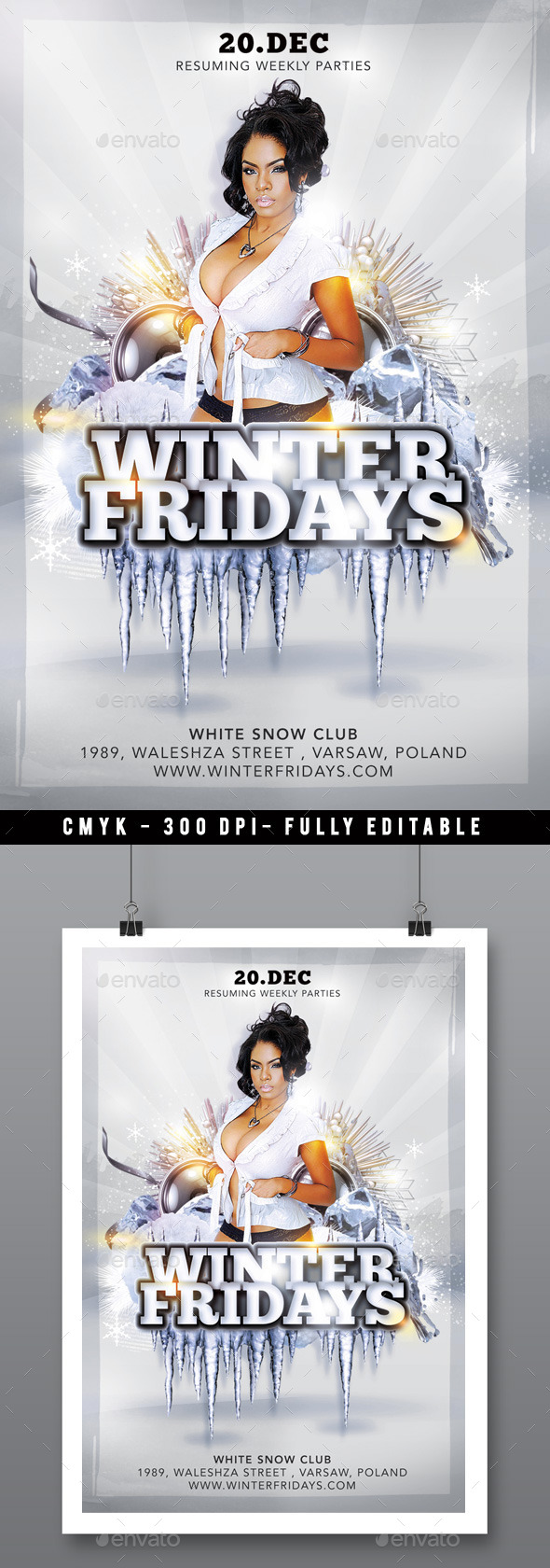 Weekly Fun Winter Friday Party In Club - Clubs & Parties Events