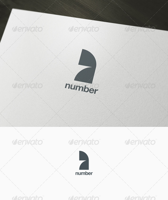Number Seven Logo - Numbers Logo Templates