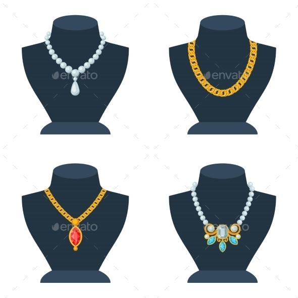 Set of Store Mannequins for Jewelry Shop - Services Commercial / Shopping