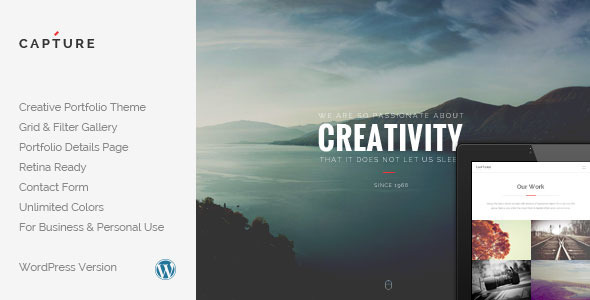 Capture – Creative Portfolio WordPress Theme