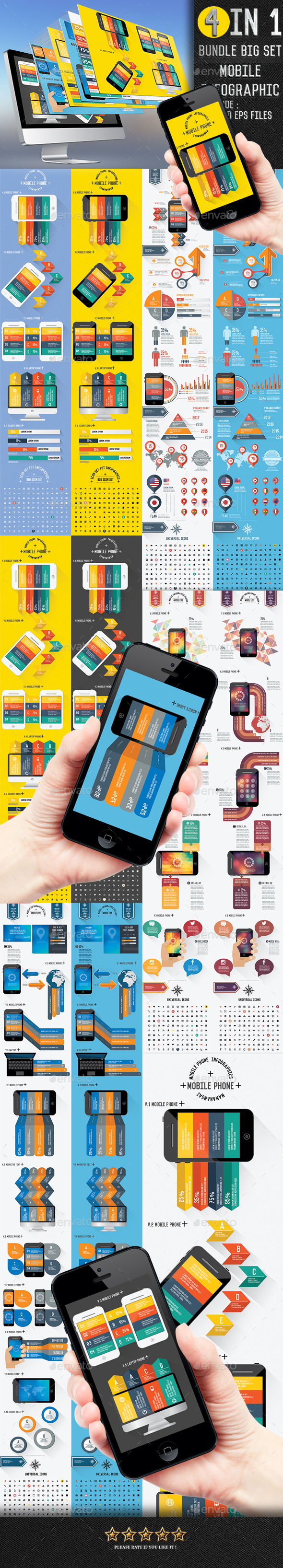 4 in 1 Bundle mobile of info graphic[Update] - Infographics