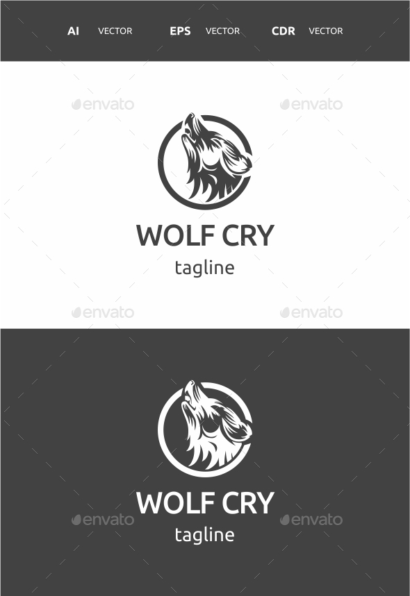 Wolf Cry - Abstract Logo Templates